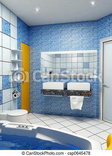 bathroom interior - csp0645478