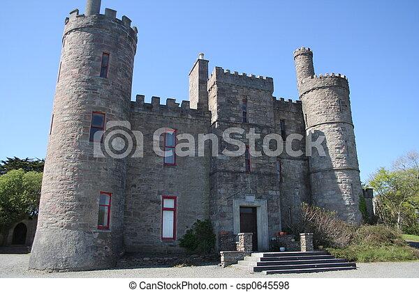 Irish castle dwelling  - csp0645598