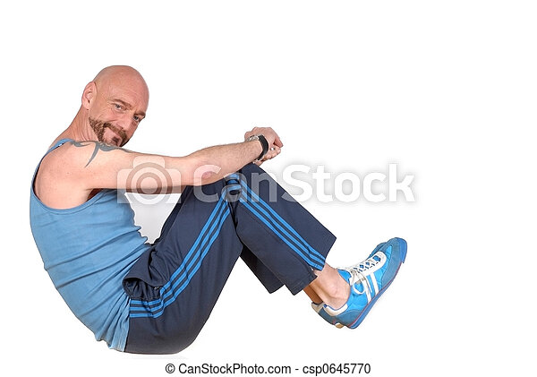 Middle aged man, fitness - csp0645770