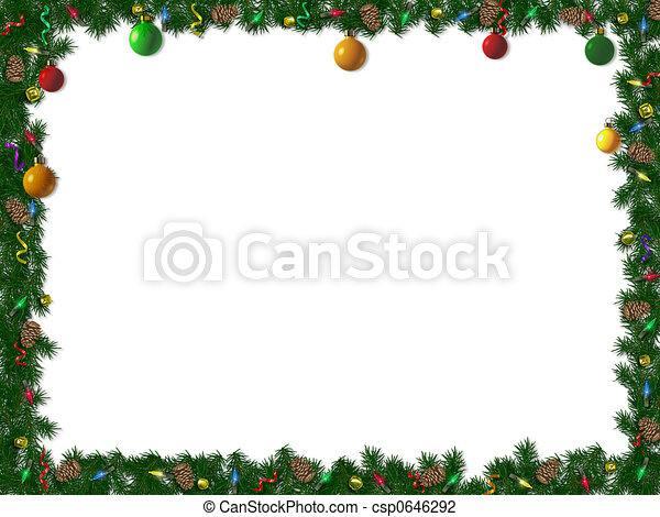 Christmas Border - csp0646292