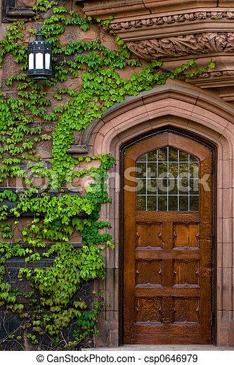 Antique door - csp0646979