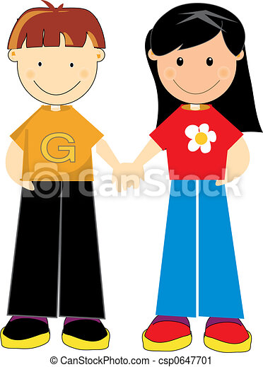 Clipart of young teenagers holding - sweet teen girl and a boy ...