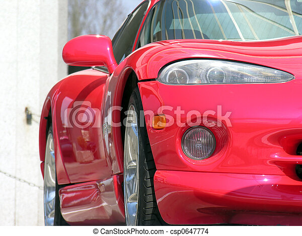 red sport car - csp0647774