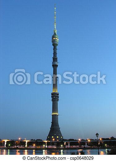 ostankino tv tower - csp0648029