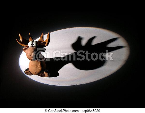 elk toy in light spot - csp0648039