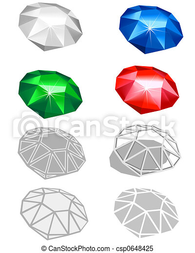 Different jewels - csp0648425