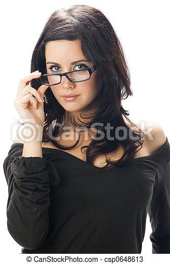 taking off glasses - csp0648613