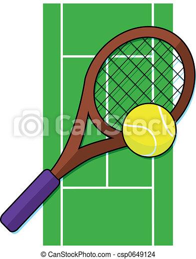 Tennis, gårdsplads - csp0649124