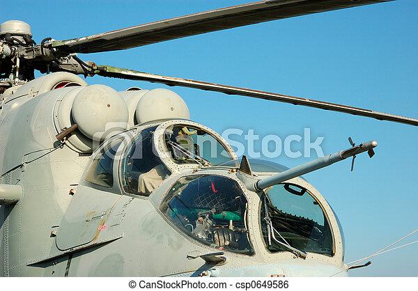 Helicopter Mi-24 - csp0649586