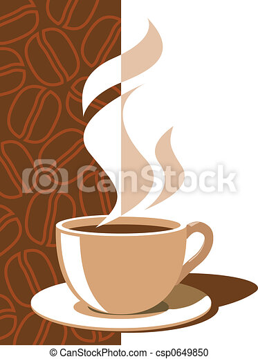 illustration de caf tasse ar me vapeur sur a. Black Bedroom Furniture Sets. Home Design Ideas