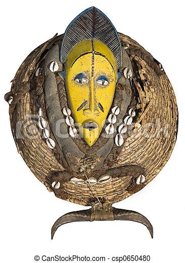 vendemmia, maschera, africano - csp0650480