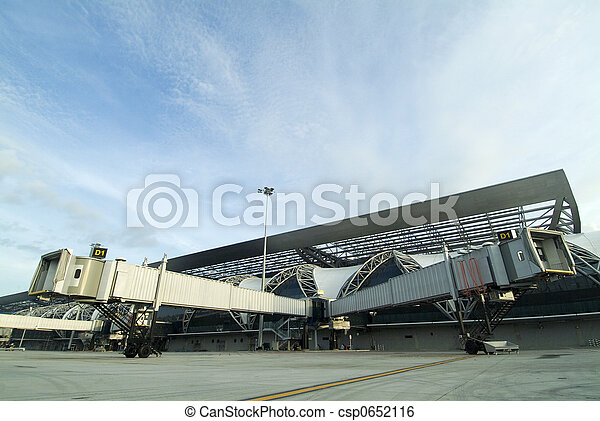 Split Airport Jetway Bridges - csp0652116