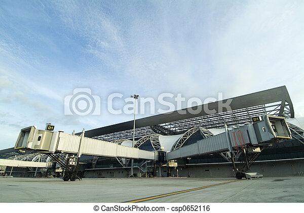 Split Airport Jetway Bridges - csp0652116