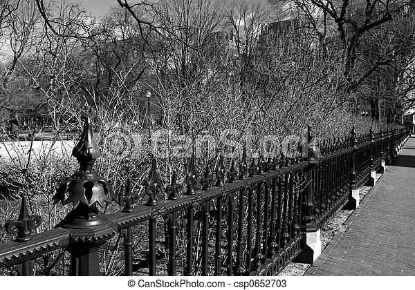 wrought iron fence - csp0652703