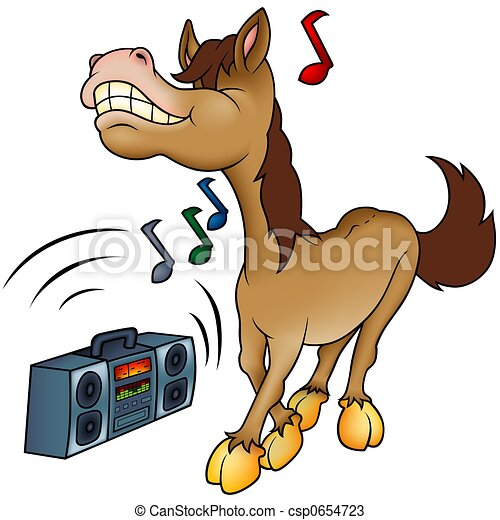 Horse and Music - csp0654723