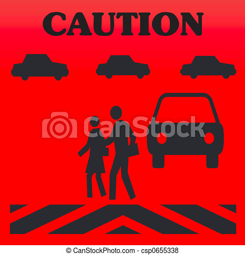 pedestrian caution - csp0655338
