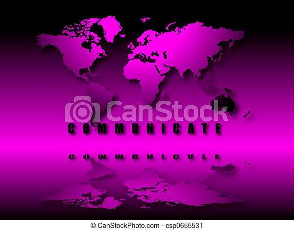 illuminated world communicate - csp0655531