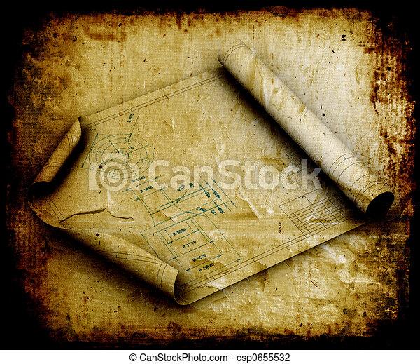 Grunge blueprints - csp0655532
