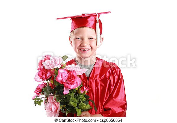 happy graduation for young boy - csp0656054