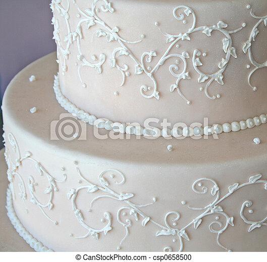 tårta, bröllop - csp0658500