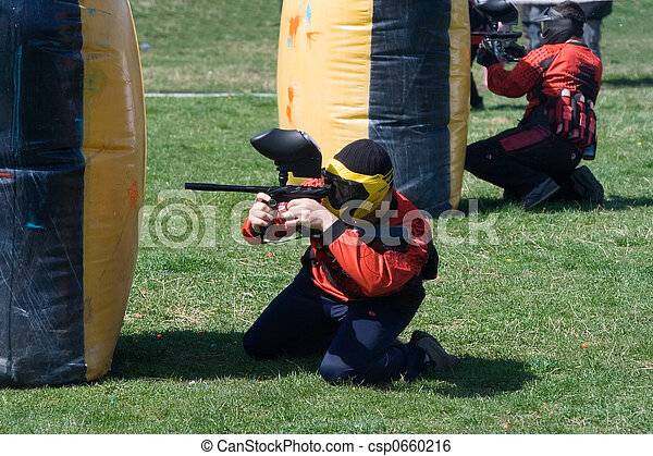 Paintball match - csp0660216