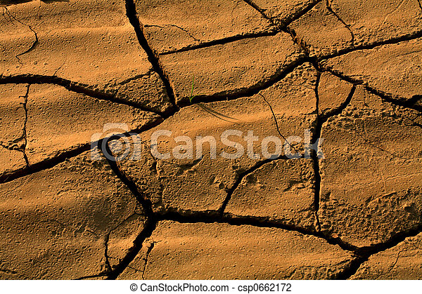 Dry land due to drought