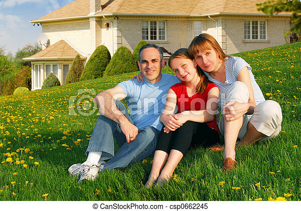 Family at a house - csp0662245