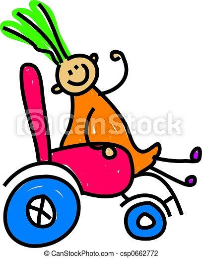 disabled girl - csp0662772