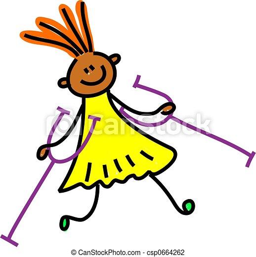 disabled girl - csp0664262