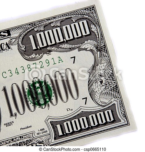 Stock Photography of million in one - a million dollar ...
