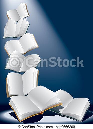 Flying books - csp0666208