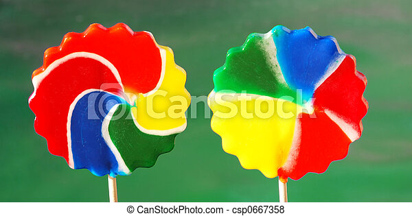 pinwheel candy suckers - csp0667358