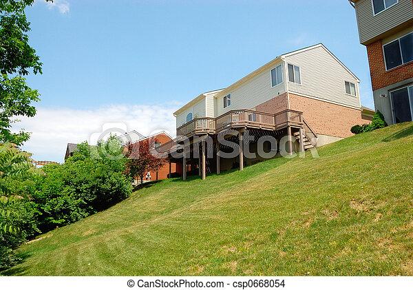Residential back yard - csp0668054