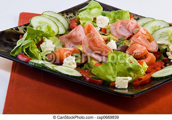 Smoked beef salad - csp0669839