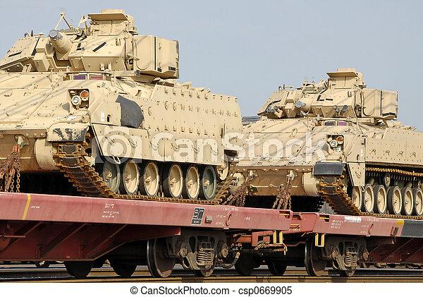 Military Tank Shipment - csp0669905