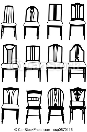 Stock Illustration Of Dining Chairs Selection Of