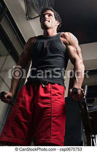 Man Exercising Arm Muscles 5 - csp0670753
