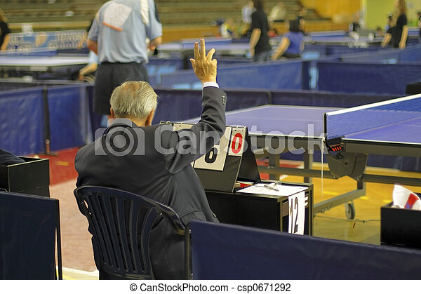 Table tennis referee - csp0671292
