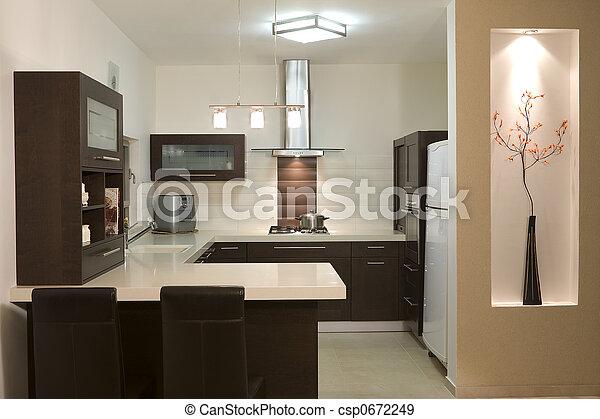 stock fotografien von modern design kueche luxus kueche modern design csp0672249. Black Bedroom Furniture Sets. Home Design Ideas