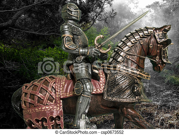 Knight on Horseback - csp0673552