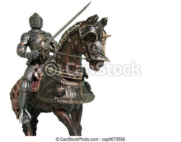 Knight on Horseback - csp0673556
