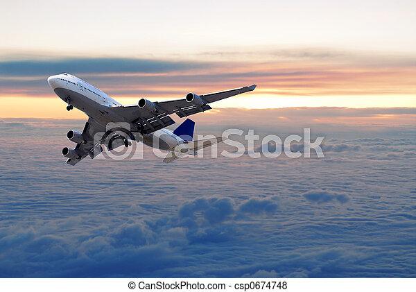 雲, の上 - csp0674748