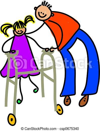 disabled girl - csp0675340