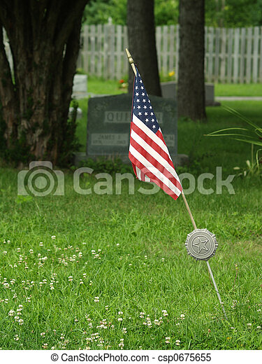 military veteran grave marker - csp0675655