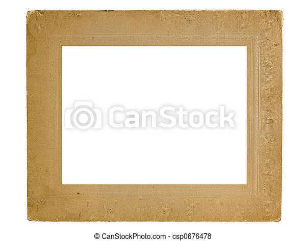Framework for a photo - csp0676478
