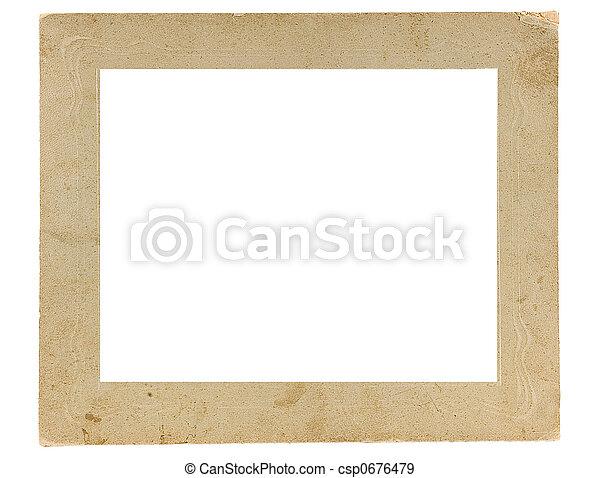 Framework for a photo  - csp0676479