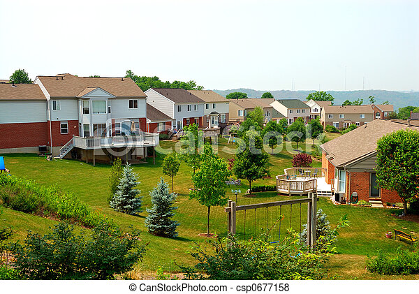 Residential Back Yards - csp0677158