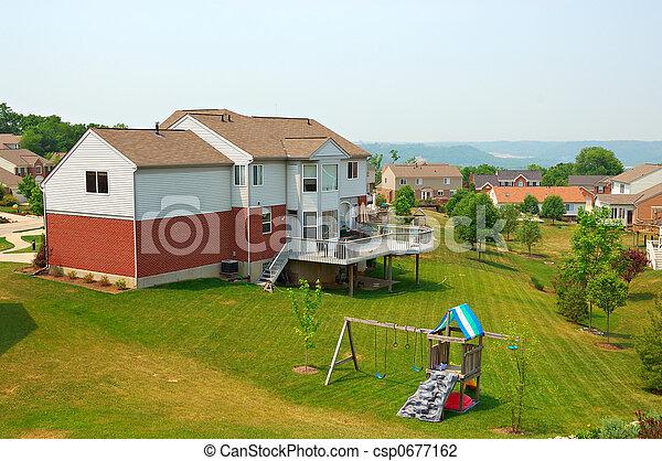 Neighborhood Back Yards - csp0677162