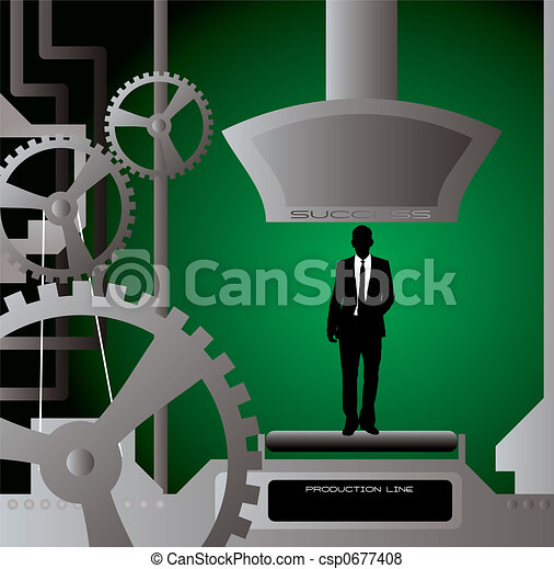 businessman production cut - csp0677408