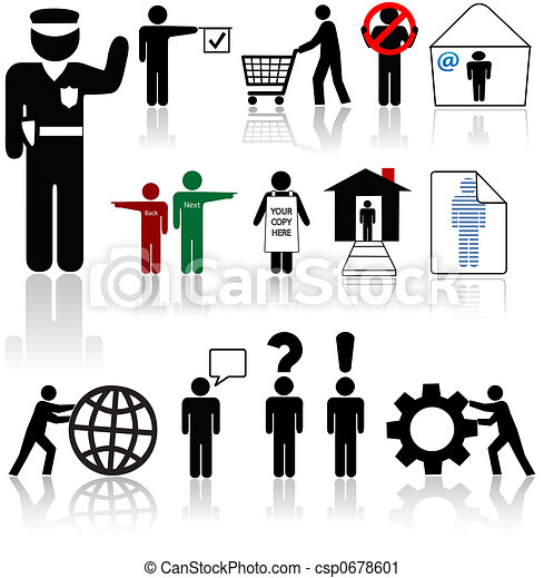 People Icons - Human Symbol Beings - csp0678601